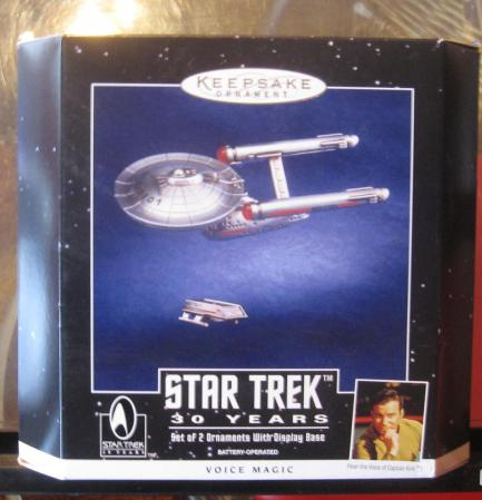 30th Anniversary Star Trek Set of 2 Ornaments 1996